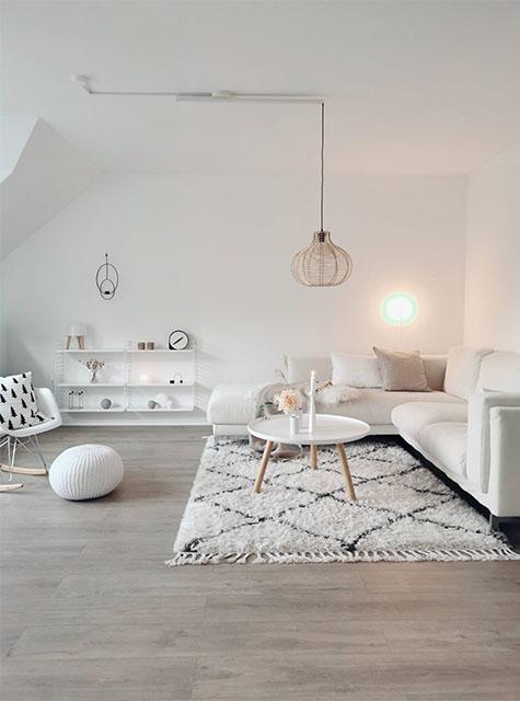 Lightswing Living room met mounting ring (Single Matt White)
